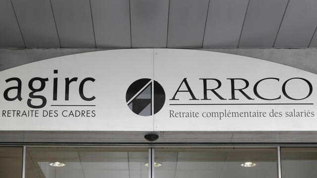L'entrée des organismes de retraite complémentaire Agirc (Association générale des institutions de retraite complémentaire des cadres) et Arrco  (Association pour le régime de retraite complémentaire des salariés), le 16 octobre 2012 à Paris [Kenzo Tribouillard / AFP]