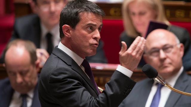 Manuel Valls à l'Assemblée nationale le 4 mai 2016 [BERTRAND GUAY / AFP/Archives]