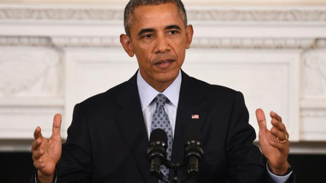 Le président américain Barack Obama, le 2 octobre 2015 à Washington [JIM WATSON / AFP]
