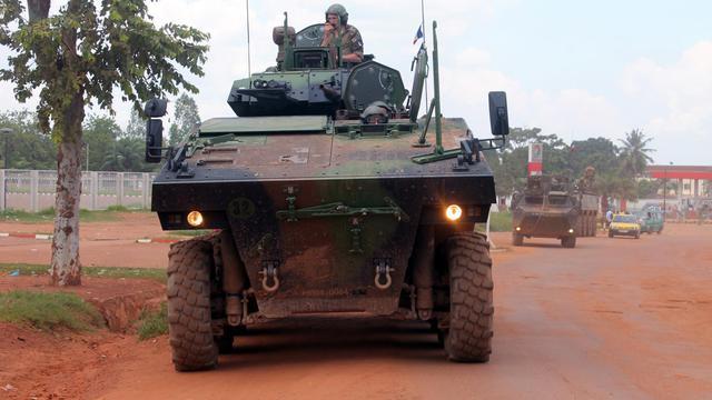 Des militaires de la force Sangaris à Bangui (Centrafrique) le 16 août 2014 [Pacome Pabandji / AFP/Archives]