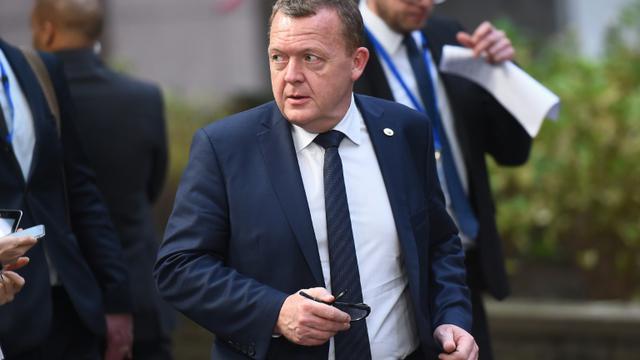 Le Premier ministre danois Lars Lokke Rasmussen à son arrivée le 17 décembre 2015 au Conseil européen à Bruxelles [EMMANUEL DUNAND / AFP]