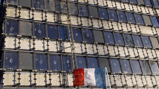 Le nouveau ministère français de la Défense en construction, un marché attribué au groupe Bouygues le 7 février 2014 à Paris [Ludovic Marin / AFP/Archives]
