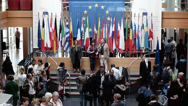 Journée portes ouvertes au Parlement européen de Strasbourg le 4 mai 2014, l'hémicycle était ouvert au public pour des visites [Frederick Florin / AFP]