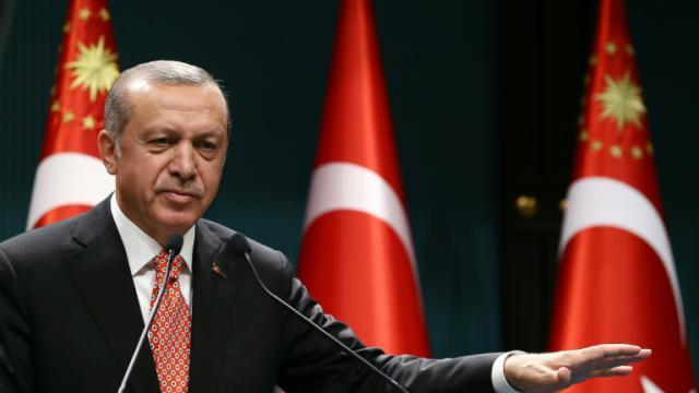 Le président turc Recep Tayyip Erdogan à Ankara le 24 juillet 2016 [YASIN BULBUL / AFP/Archives]