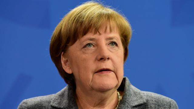 La chancelière allemande Angela Merkel, le 15 avril 2016 à Berlin  [John MACDOUGALL / AFP/Archives]