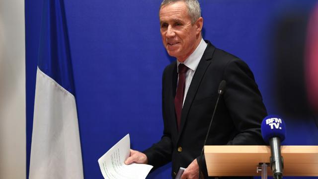 François Molin photographié lors d'une conférence de presse, le 3 octobre 2018 [Christophe ARCHAMBAULT / AFP/Archives]