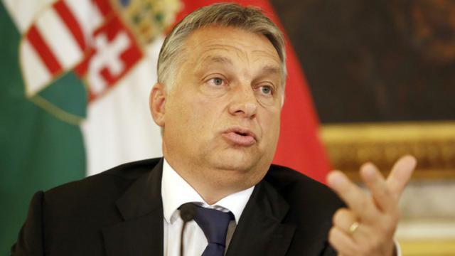 Le Premier ministre hongrois Viktor Orban le 25 septembre 2015 à Vienne [DIETER NAGL / AFP/Archives]
