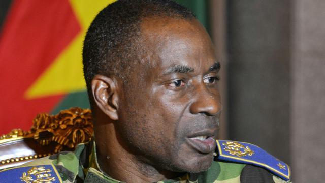 Le général Gilbert Diendéré, le 17 septembre 2015 au palais présidentiel à Ouagadougou [AHMED OUOBA / AFP/Archives]