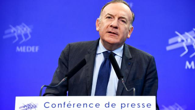 Le président du Medef, Pierre Gattaz, le 13 mars 2018 à Paris [ERIC PIERMONT / AFP/Archives]