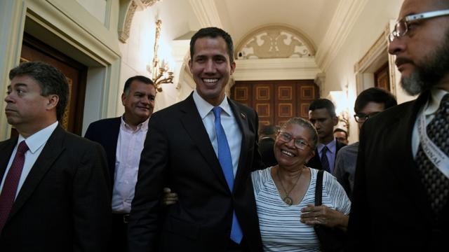 Le président de l'Assemblée nationale Juan Guaido, à Caracas, le 11mars 2019 [Federico Parra                       / AFP]
