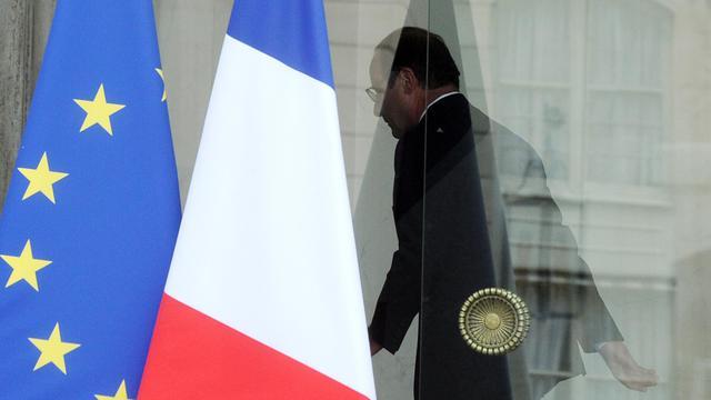 François Hollande au Palais de l'Elysée le 1er août 2014 [Dominique Faget / AFP/Archives]