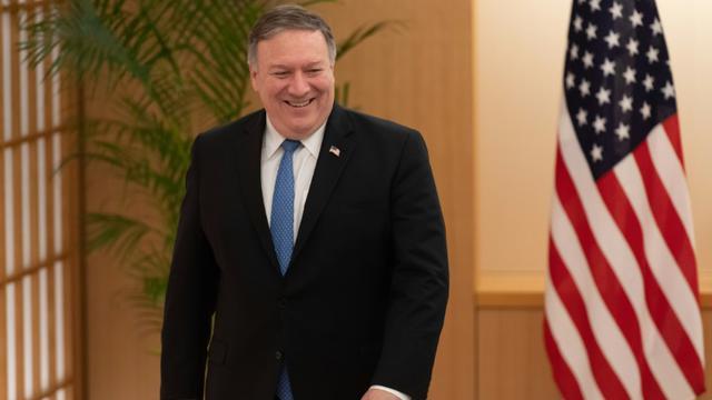 Le secrétaire d'Etat américain Mike Pompeo, à Tokyo le 6 octobre 2018 [Eugene Hoshiko / POOL/AFP]