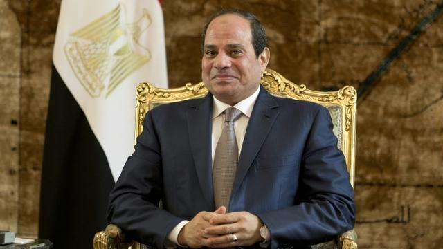 Le chef de l'Etat égyptien, Abdel Fattah al-Sissi, au Caire le 10 octobre 2015 [Kenzo Tribouillard / AFP/Archives]