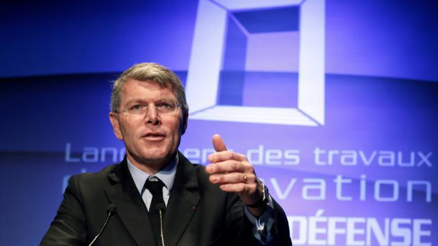 Pierre Berger, le PDG du groupe Eiffage, le 3 décembre 2014, à La Défense [Patrick Kovarik / AFP/Archives]