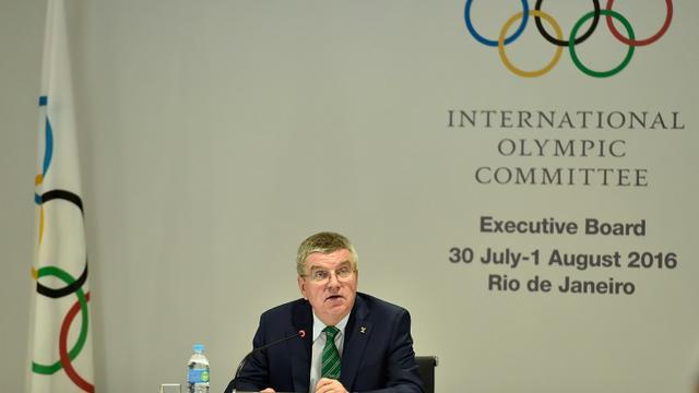 Le président du CIO Thomas Bach lors la réunion de la commission exécutive de l'instance olympique, le 30 juillet 2016 à Rio [Pascal Le Segretain / POOL/AFP]