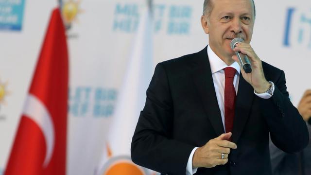 Le président turc Recep Tayyip Erdogan lors du congrès de son parti l'AKP, le 18 août 2018 à Ankara [ADEM ALTAN / AFP/Archives]