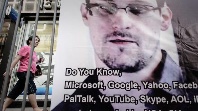 Une affiche de soutien à Edouard Snowden à Hong Kong, le 18 juin 2013 [Philippe Lopez / AFP/Archives]