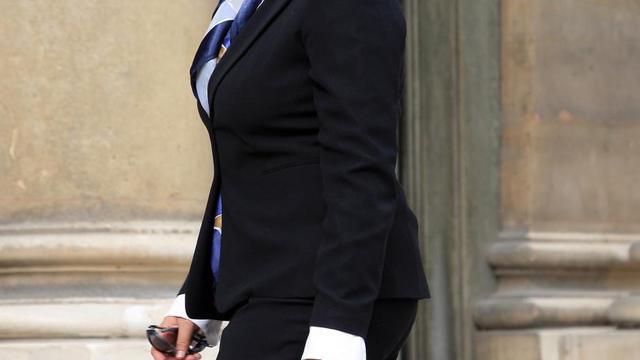 le 06 juillet 2007, Maïna Sage, alors ministre de Polynésie française du tourisme et de l'environnement arrive au palais de l'Elysée [Jacques Demarthon / AFP/Archives]