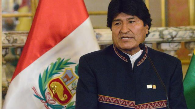 Le président bolivien Evo Morales au Palais présidentiel  à Lima, le 1er septembre 2017. [CRIS BOURONCLE / AFP/Archives]