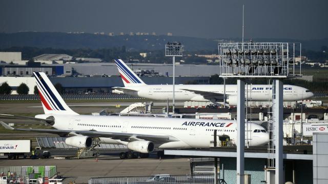 Des avions Air France, le 18 septembre 2014, sur le tarmac de l'aéroport d'Orly, près de Paris [Eric FEFERBERG / AFP/Archives]