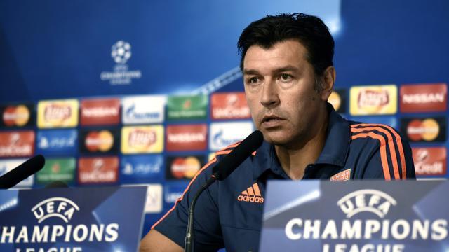 L'entraîneur de Lyon Hubert Fournier lors d'une conférence de presse le 28 septembre 20145 à Lyon [JEFF PACHOUD / AFP]