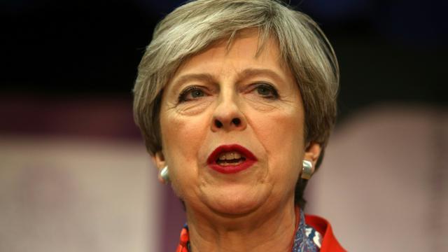 La Première ministre britannique Theresa May s'exprime sur le légilsatives le 9 juin 2017 à Maidenhead [Geoff CADDICK / AFP]