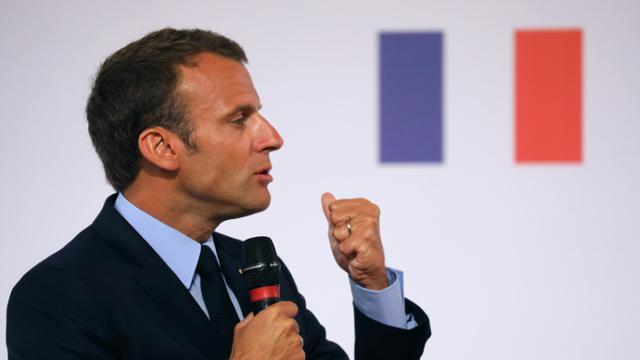 Emmanuel Macron à Paris le 22 mai 2018 [LUDOVIC MARIN / POOL/AFP]