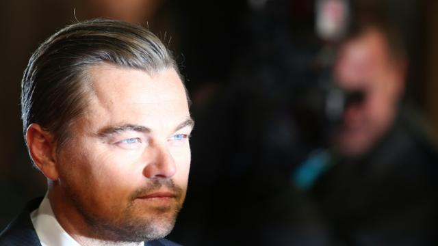 L'acteur américain Leonardo DiCaprio, le 14 février 2016 à Londres [JUSTIN TALLIS / AFP]