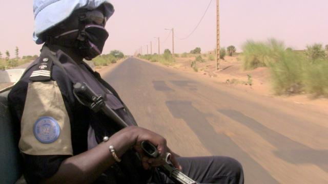 Des membres de la Minusma le 18 mai 2016 à Gao, au Mali [SOULEYMANE  AG ANARA / AFP/Archives]