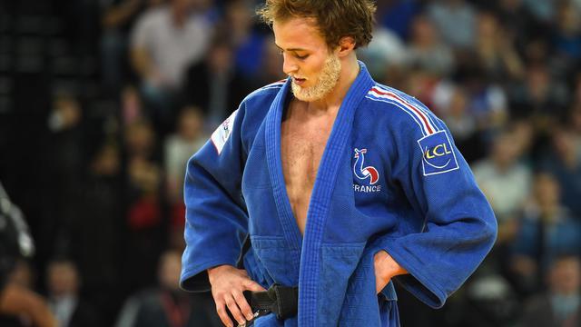 Le judoka français Ugo Legrand après sa défaite face au Néerlandais Dex Elmont en finale de l'Euro (-73kg), le 25 avril 2014 à Montpellier   [Pascal Guyot / AFP/Archives]