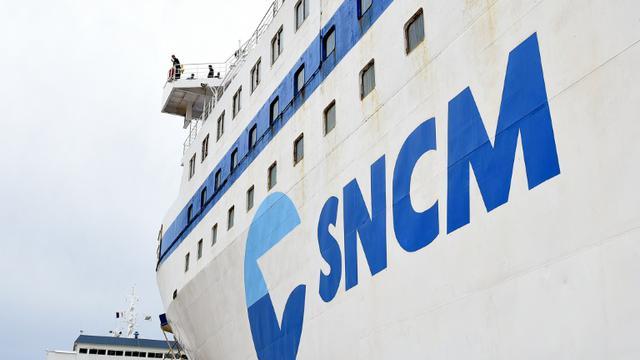 Un navire de la SNCM le 20 novembre 2015 dans le port de Marseille [BORIS HORVAT / AFP/Archives]
