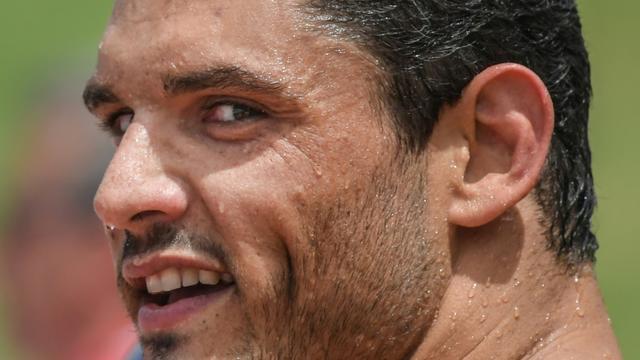 Le Français Florent Manaudou après sa série sur 50 m libre à Rome, le 21 juin 2019 [Tiziana FABI / AFP]