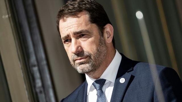 Christophe Castaner au ministère de l'Intérieur à Paris, le 4 avril 2019 [KENZO TRIBOUILLARD / AFP]