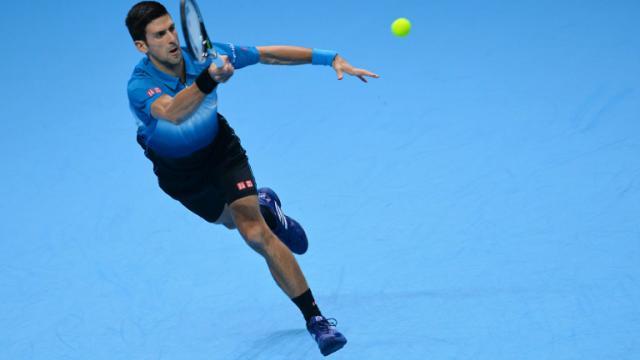Novak Djokovic face au Tchèque Tomas Berdych au Masters final, le 19 novembre 2015 à Londres  [GLYN KIRK / AFP]