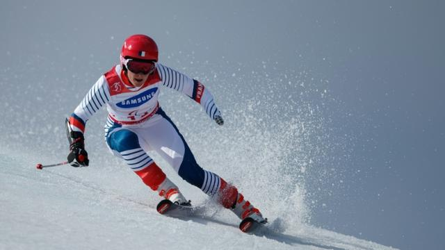 La skieuse française Marie Bochet lors du slalom géant des Jeux paralympiques, le 14 mars 2018 à Pyeongchang [Simon BRUTY / OIS/IOC/AFP]