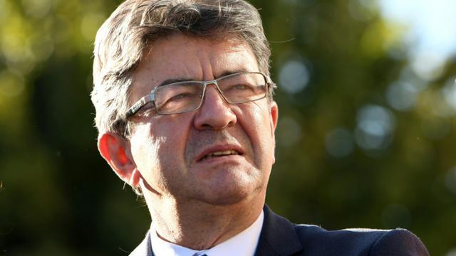 Le chef de file de La France Insoumise (LFI) Jean-Luc Mélenchon, le 11 octobre 2017 à Grenoble [JEAN-PIERRE CLATOT / AFP/Archives]