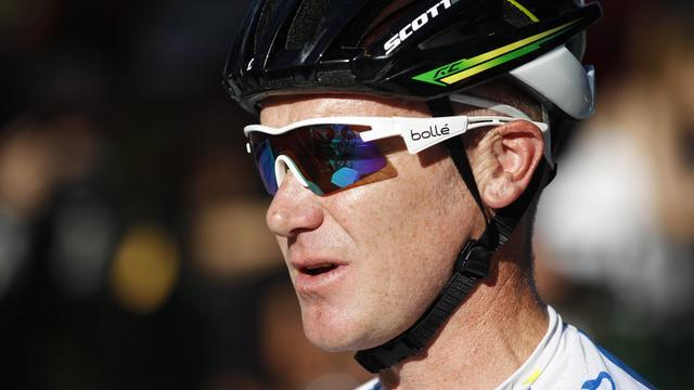 L'Australien Stuart O'Grady avant le départ d'une étape du Tour Down Under le 20 janvier 2013 à Adelaide [Mark Gunter / AFP/Archives]