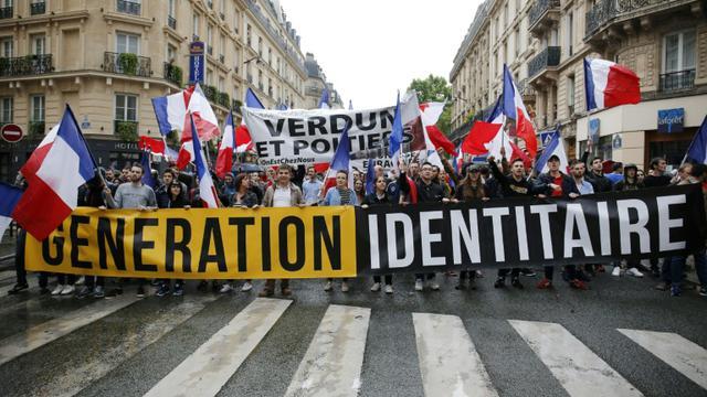Une manifestation de l'association Génération Identitaire à Paris le 28 mai 2016 [MATTHIEU ALEXANDRE / AFP/Archives]