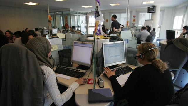 Centre d'appels au Maroc [Abdelhak Senna / AFP/Archives]