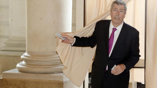 Patrick Balkany, maire de Levallois-Perret, lors du 1er tour des élections municipales, le 23 mars 2014 [Pierre Andrieu / AFP/Archives]