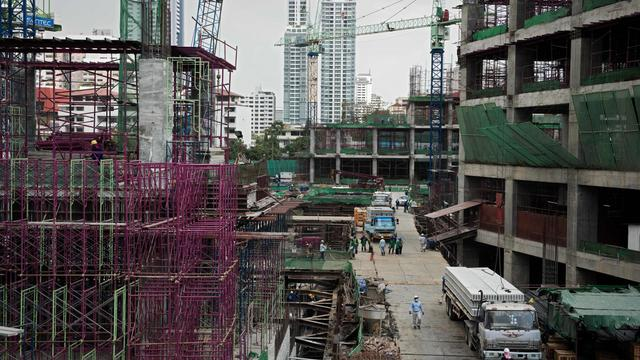 Un chantier de construction à Bangkok, en 2013 [Nicolas Asfouri / AFP/Archives]