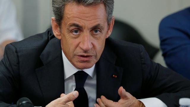 Nicolas Sarkozy, candidat à la primaire de la droite pour 2017, le 19 septembre 2016 à Franconville (Val-d'Oise) [PHILIPPE WOJAZER / POOL/AFP]