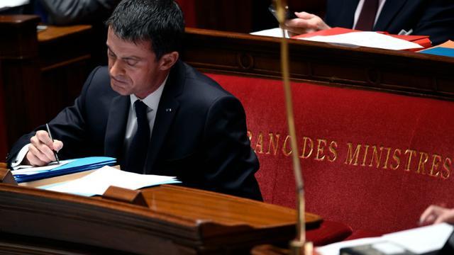 Le Premier ministre Manuel Valls à l'Assemblée Nationale, le 2 décembre 2015 [MARTIN BUREAU                        / AFP]