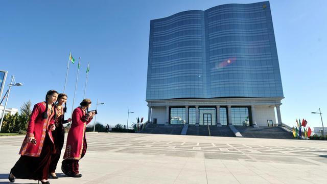 Photo prise en novembre 2010 à Achkhabad, la capitale du Turkménistan [Vyacheslav Oseledko / AFP]