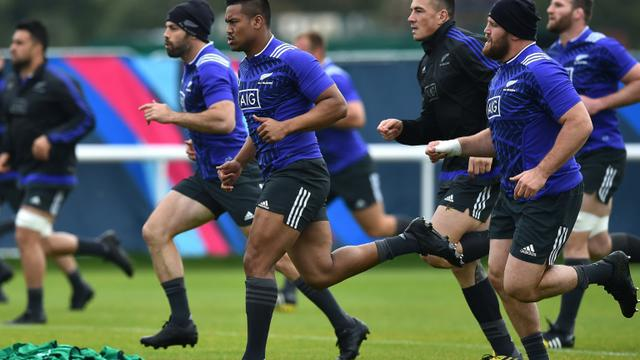 Les All Blacks à l'entraînement à Sunbury, à Londres, le 20 octobre 2015 [GABRIEL BOUYS / AFP/Archives]