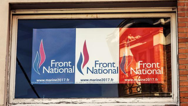 """Le principe d'un changement de nom du Front national a été validé par une """"courte majorité"""" [PHILIPPE HUGUEN / AFP/Archives]"""