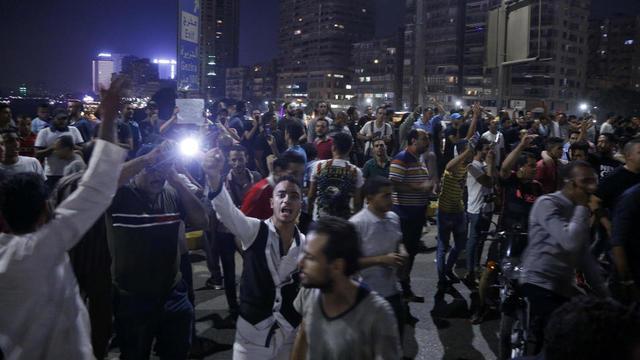 Des manifestants dans les rues du Caire, vendredi 20 septembre.