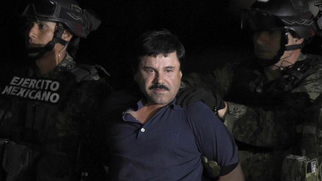Joaquin Guzman lors de son arrestation à Los Mochis, le 8 janvier 2016.