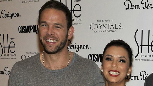 Ernesto Arguello et Eva Longoria à Las Vegas, le 2 février.