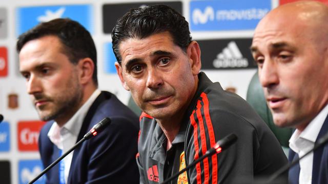Fernando Hierro a remplacé au pied levé Julen Lopetegui, remercié à deux jours du premier match de la Roja contre le Portugal.